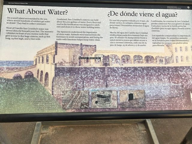 The rainwater storage system in the Castillo San Felipe del Morro Fort explained